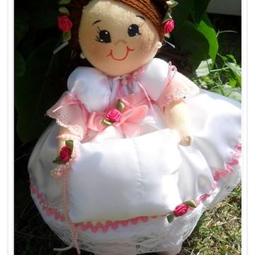 Boneca daminha tema rosa pink