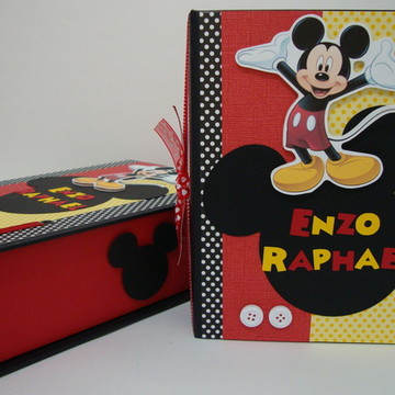 Álbum com Caixa / Mickey