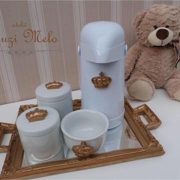 Kit higiene coroa com garrafa