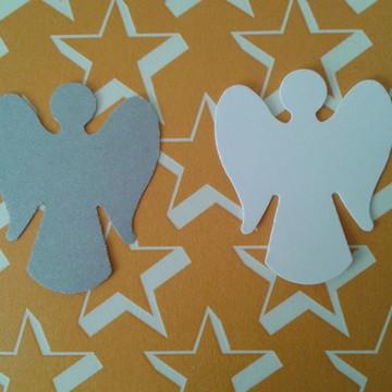 Anjos prata e branco - 40 Unds