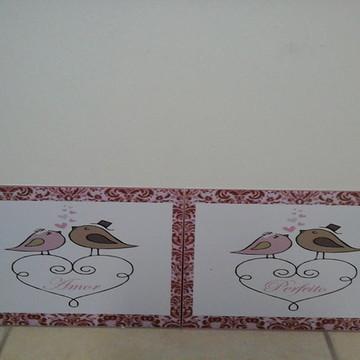 Placa Cadeira dos Noivos PVC Adesivado