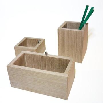 Conjunto escritório 3 peças - Cinza