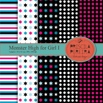 Papel Digital Monster High for Girl I