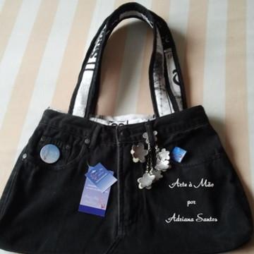 Bolsa calça de brim