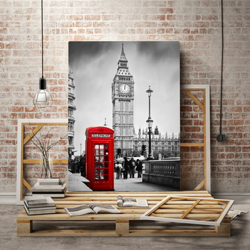 Quadro Decorativo Londres Big Ben ADcorista 4DDD17