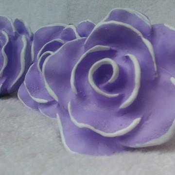 Puxador Rosa Provençal Lilas com borda