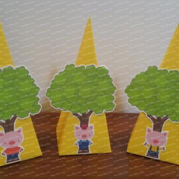 Caixa Pirâmide 3 porquinhos