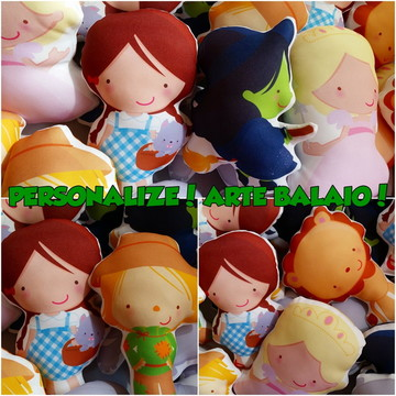 Kit com 6 Personagens Magico de Oz 25 cm