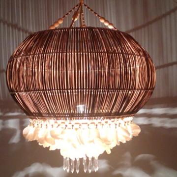 luminaria de escama e palito/ Coqueiro
