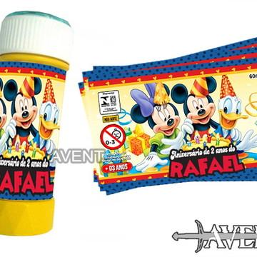 Rótulo bolha de sabão Mickey