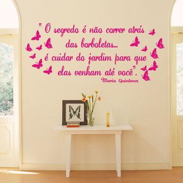 Adesivos decoração Frases com borboletas