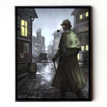 Quadro Sherlock Holmes (desenho)