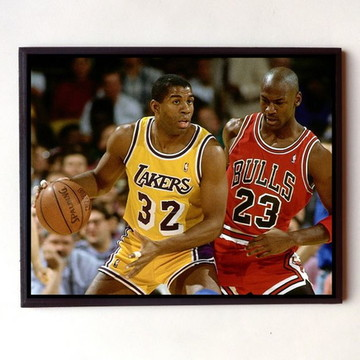 917dd8e2df2 Quadro Magic Johnson e Michael Jordan