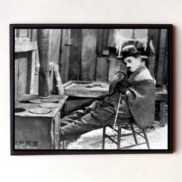 Quadro Charles Chaplin Em Busca do Ouro (Cena PB)