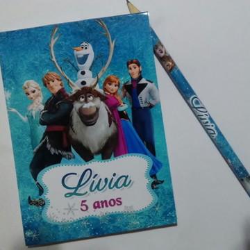 Kit Bloquinho + Lápis Frozen