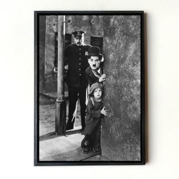 Quadro Charles Chaplin O Garoto (Muro)
