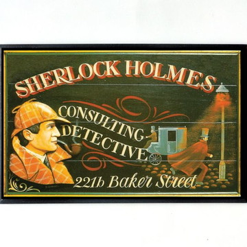 Quadro Sherlock Holmes (Placa)