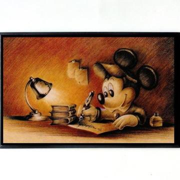 Quadro Mickey Escritor