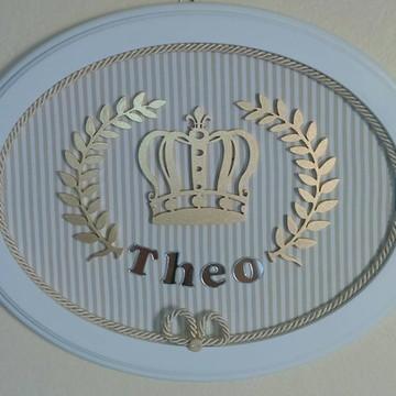 Quadrinho Oval - Coroa de Príncipe Bege