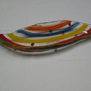 Petisqueira em vidro na técnica fusing