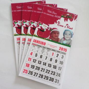 Imã com calendario natal