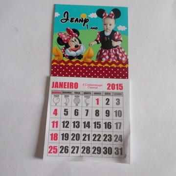 imã minnie vermelha com calendario