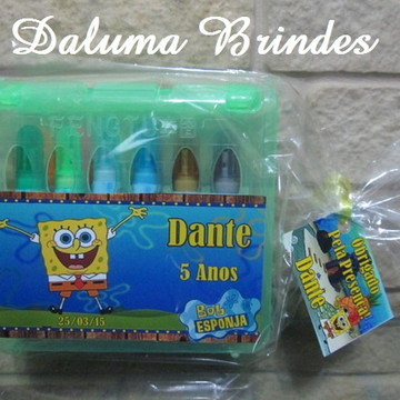 Maleta personalizada com 12 canetinhas