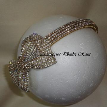 Tiara de luxo dourada
