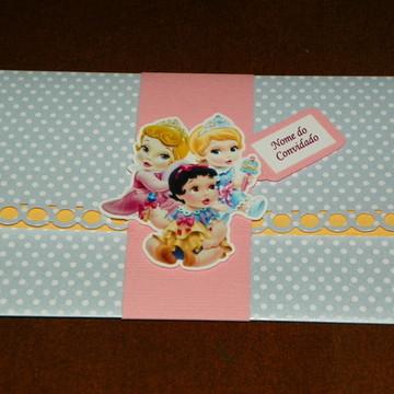 Convite Princesas Baby Disney