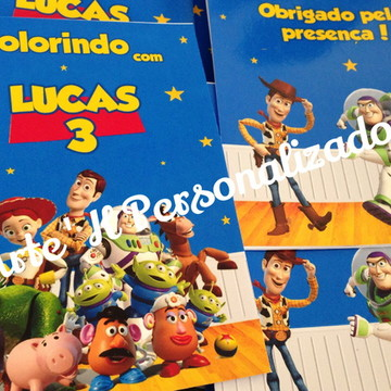 Revistinha Colorir Toy Story