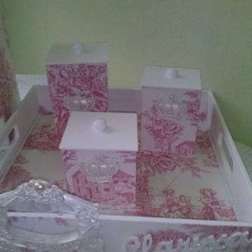 Kit higienico toile de jouy