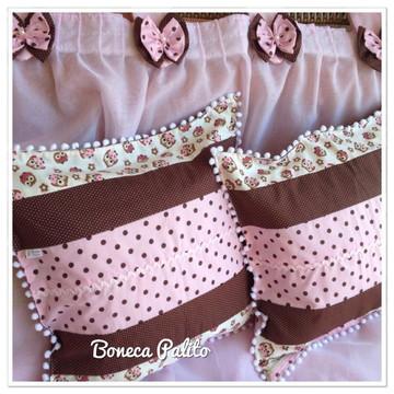 Capa de almofadas de patchwork