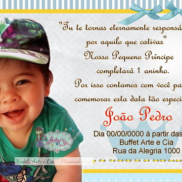 Convite Pequeno Príncipe - 4