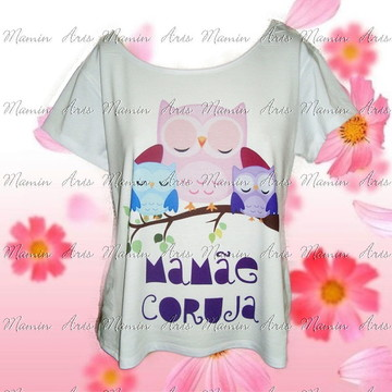 Tshirt Canoa Mamãe coruja