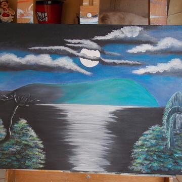 Tela Pintura acrílica - Luar