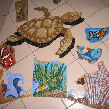 KIT Mosaico para Muro , Piscina, Piso