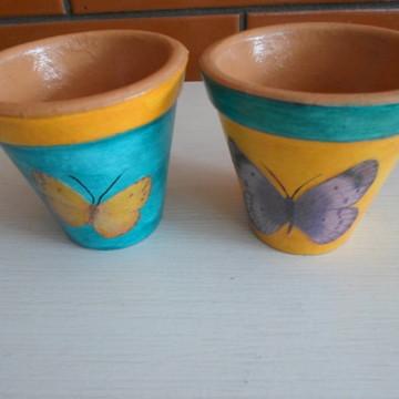 Vasinhos de cerâmica borboletas
