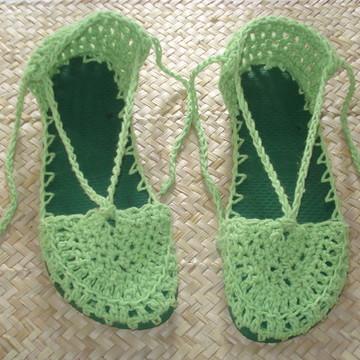 Sapato de crochê - modelo boneca
