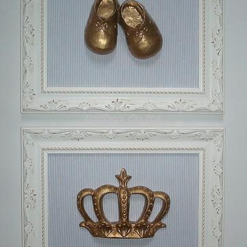 Duo de quadros menino (coroa + sapato)