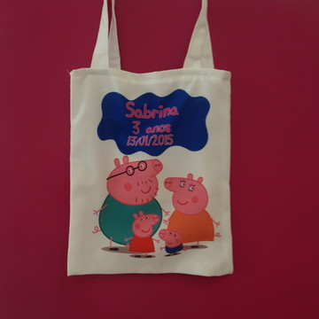 Eco bag personalizada Peppa pig
