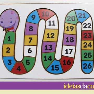 Jogo de Encaixe - Cobrinha de Números