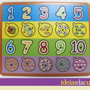 Jogo de Encaixe com pinos - Números
