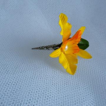 Flor de Lapela - Orquídea Amarela