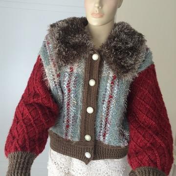 Jaqueta em lã, peça única