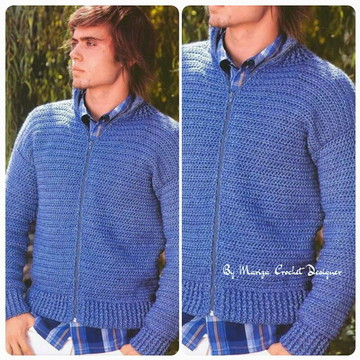 Blusa Crochet masculina