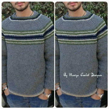 Blusa Crochet Masculino