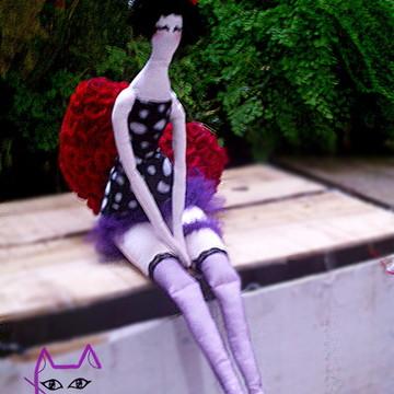 Boneca Piriguete Elegante estilo Tilda
