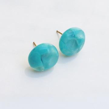 Azul Celeste - brincos de murano