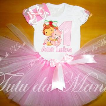 1fe5c0e98b Fantasia Tutu Personalizada Moranguinho Rosa Claro
