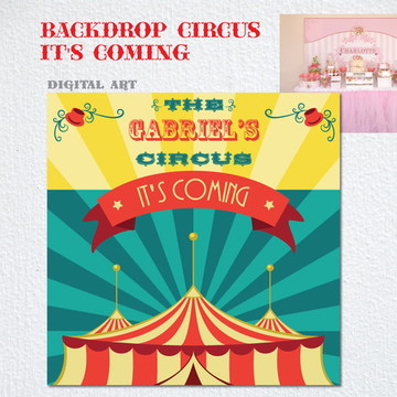 Circo Tendas Painel IMPRESSO LONA